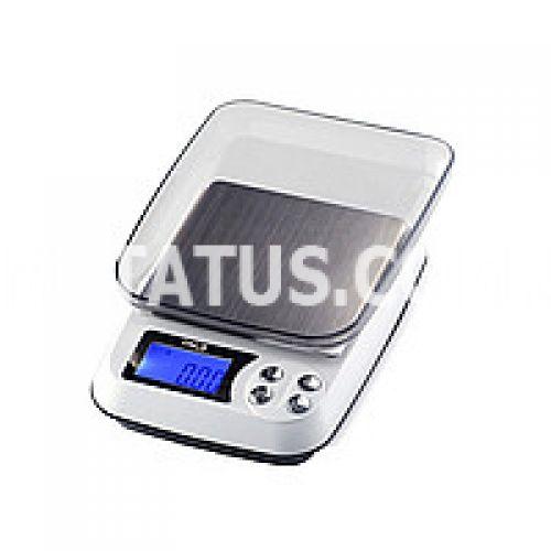 Весы цифровые DM.3 (±0.1 г / 1000 г) с функцией счета и съемной крышкой